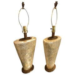 Pair of Table Lamps with Mother of Pearl