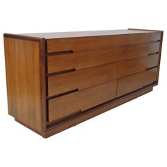 Edmund Spence Long Low Swedish Double Dresser with graduated drawers