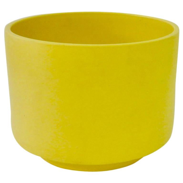 Large California Modern Yellow Planter Pot By Gainey