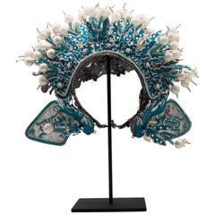 Vintage Chinese Opera Theatre Headdress, Early 20th Century