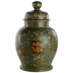 18th Century Italian Terracotta Chinoiserie Vase, circa 1770