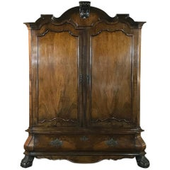 18th Century Dutch Mahogany Armoire, Cabinet