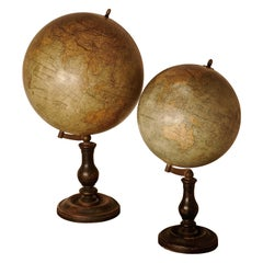 Set of French 19th Century Globes by G Thomas, Terrestre and Metrique