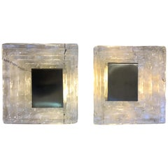 Pair of Wall Lamp in Murano Glass by Carlo Nason for Mazzega