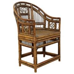 English Regency 'Brighton Pavilion' Chair, Bamboo, 1820, King George IV