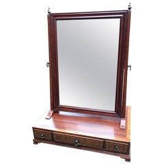 Georgian Mahogany Inlaid Swing Frame Dressing Mirror