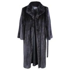 Harrods Full Length Black Mink Coat