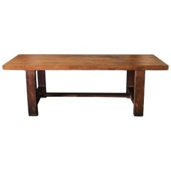 20th Century French Dining Table, Walnut Conference Table