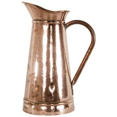 Very Large Late 19th Century French Copper Pitcher or Umbrella Stand
