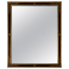 Magnificent Large Black and Gold Regency Style Mirror