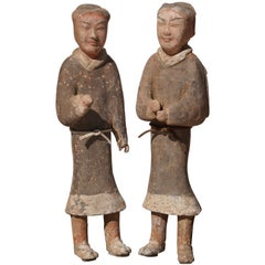 Large Pair of Han Dynasty Guardsmen Warriors '200BC - 200AD'