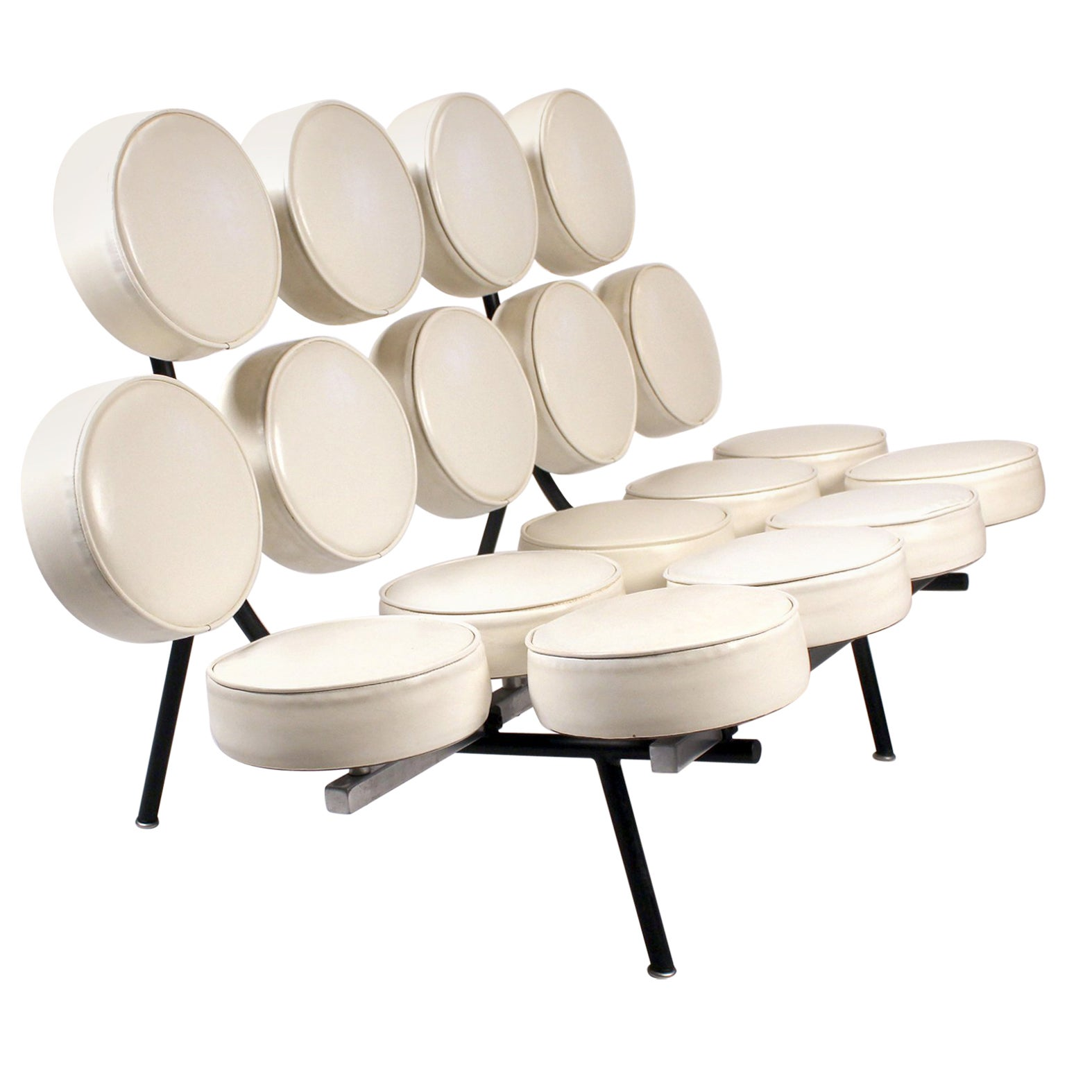 Early Marshmallow Sofa by George Nelson for Herman Miller