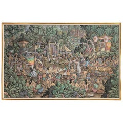 Super Large Spectacular Incredibly Detailed Balinese Original Painting