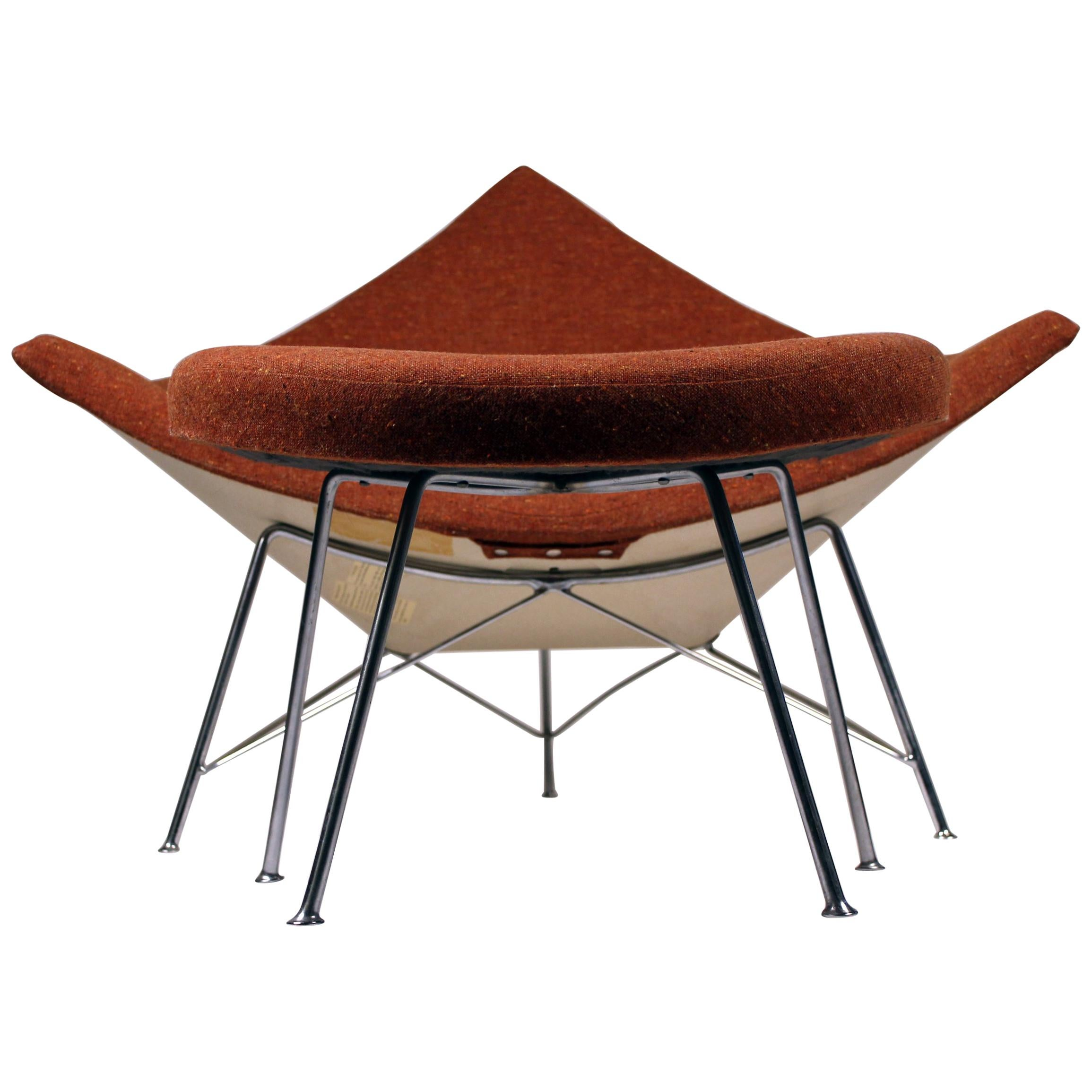 Early Coconut Chair and Ottoman by George Nelson for Herman Miller