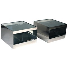 Pair of Low Rolling Tables by Joseph D'urso for Knoll International