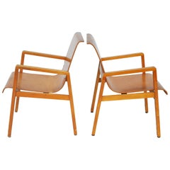 Vintage Pair of Hallway 403 Chairs by Alvar Aalto
