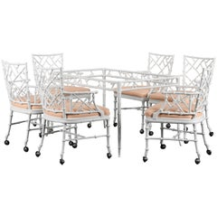 Phyllis Morris Faux Bamboo Patio Set for Kessler Industries, 1960s