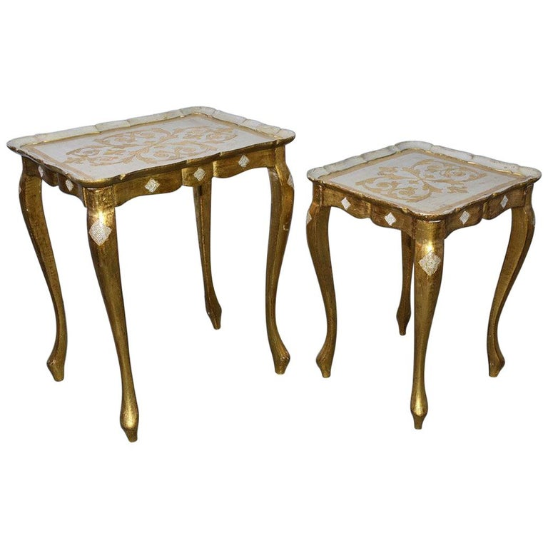 Two Florentine Style Side Tables For Sale