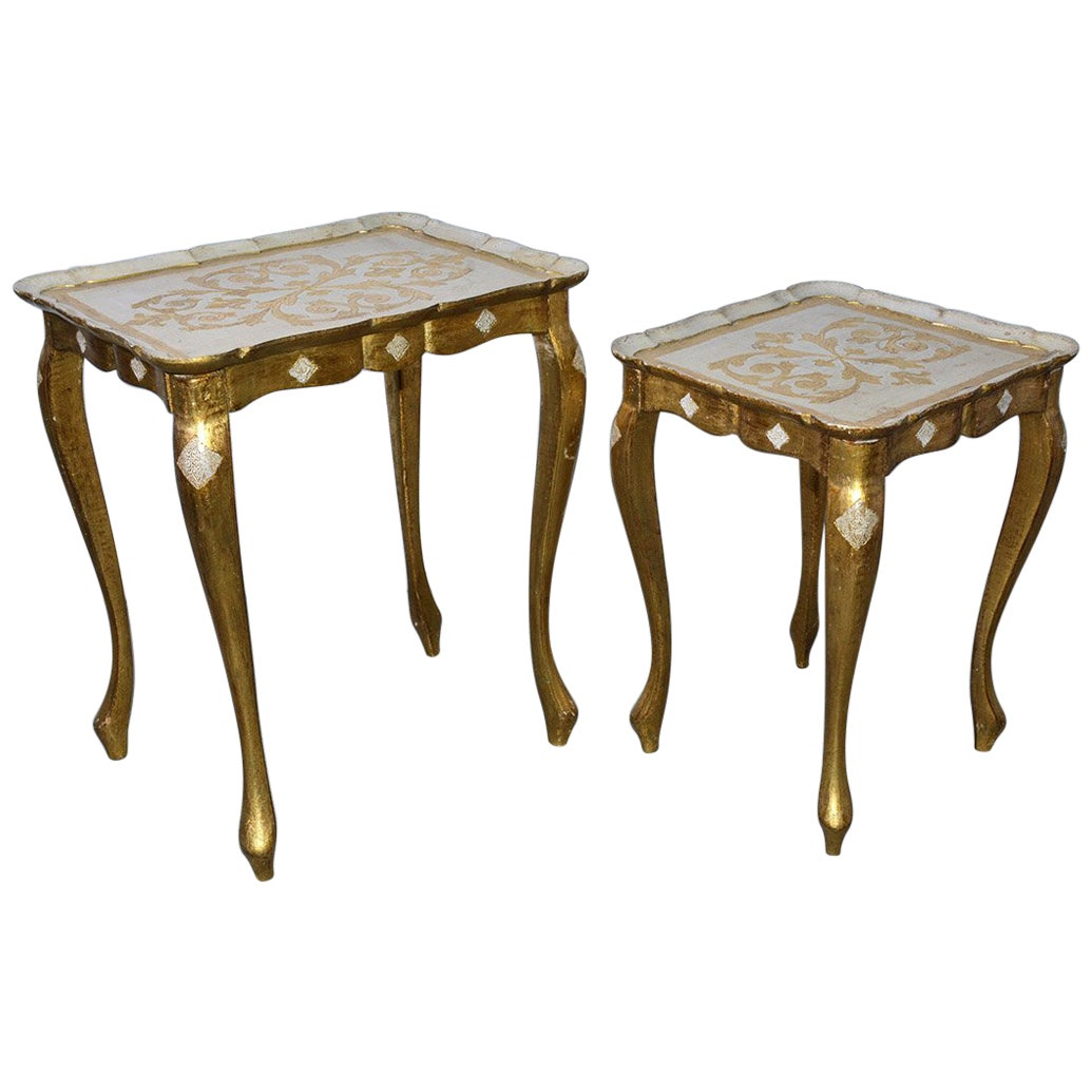 Two Florentine Style Side Tables