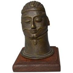 Antique Indian Bronze Shiva Lingam Cover