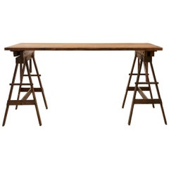 Wooden Industrial Drafting Table