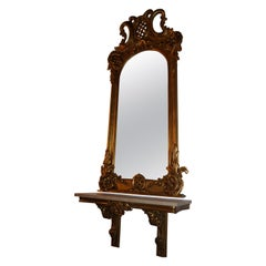 Baroque Mirror with Chest of Drawers Louis Seize