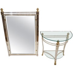 Maison Charles Mirror with Tables Hollywood Regency