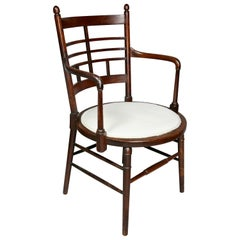 English Arts and Crafts Mahogany Armchair by Liberty and Co