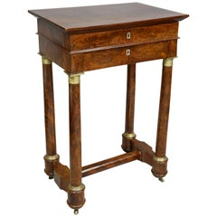 French Empire Mahogany Table