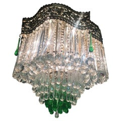 "Amazing Italian Chandelier ""Royal Crown"", Murano, 1950s"