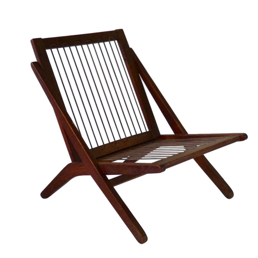 Folke Ohlsson Scissor Lounge Chair Frame