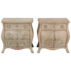 Pair of Patina Furniture Company Italian Painted Bedside Tables, 1980s