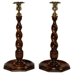 Pair of 19th Century Tall Candlesticks