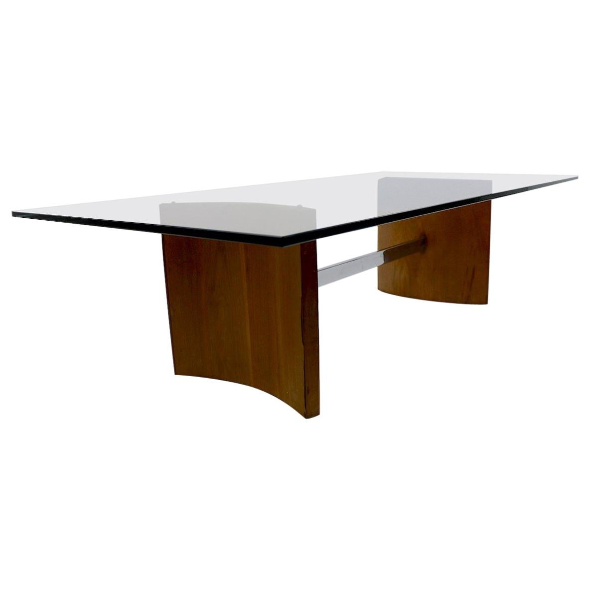 Kagan Propeller Glass Top Coffee Table for Selig