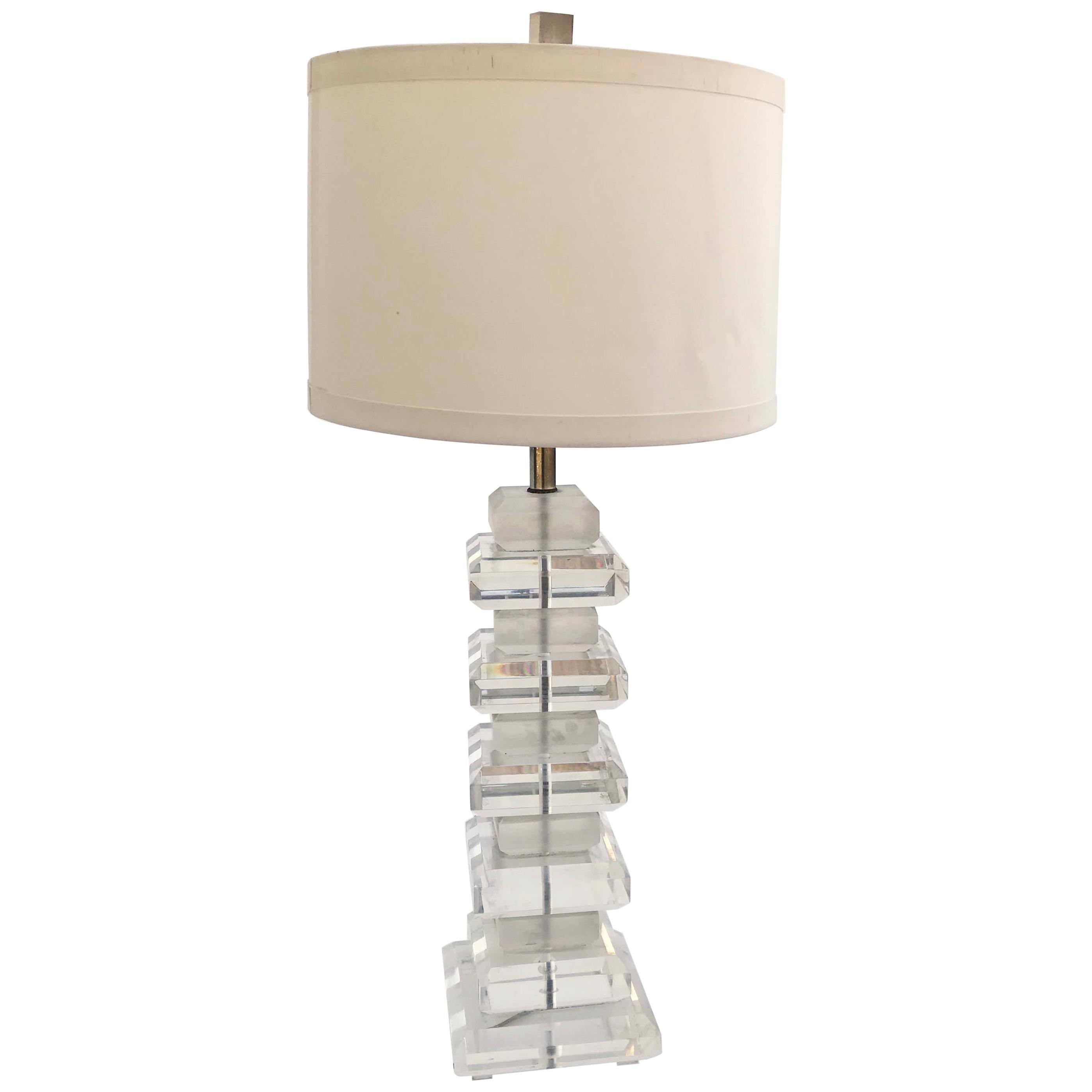Karl Springer Style Lucite Lamp
