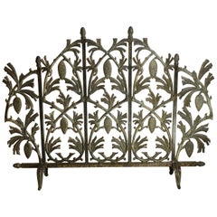 Iron Pinecone Fireplace Screen