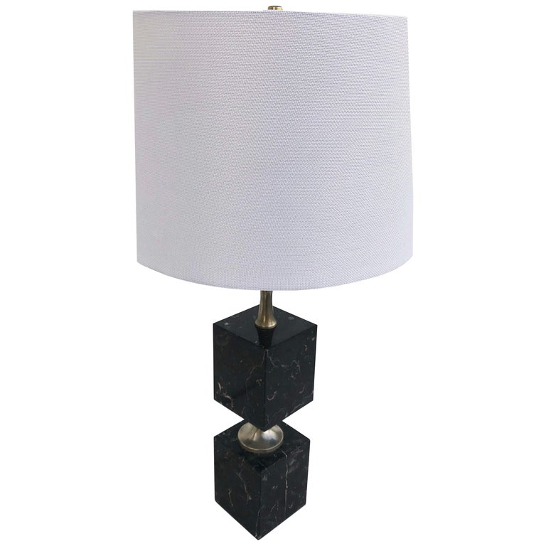 Maison Barbier Marble Table Lamp For Sale