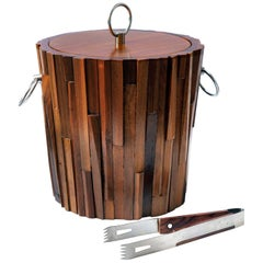 Mid-Century Modern Brutalist Ice Bucket