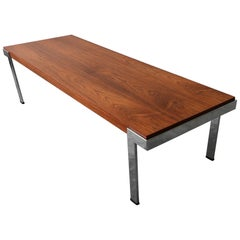 Modernist Danish Midcentury Rosewood and Chrome Coffee Table