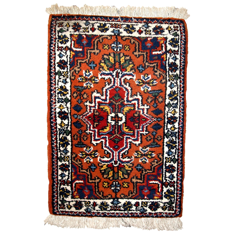 Handmade Vintage Hamadan Style Rug, 1970s, 1C614