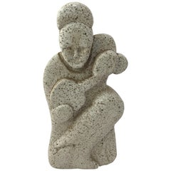 1960s Terrazzo Guitar Player Sculpture