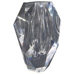 Steuben Signed Art Glass Modernist Bud Vase, Signed