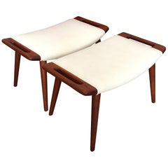 Pair of Hans Wegner Papa Bear Ottomans