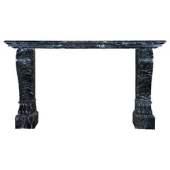 19th Century French Antique Green Marble Wall Table-Console