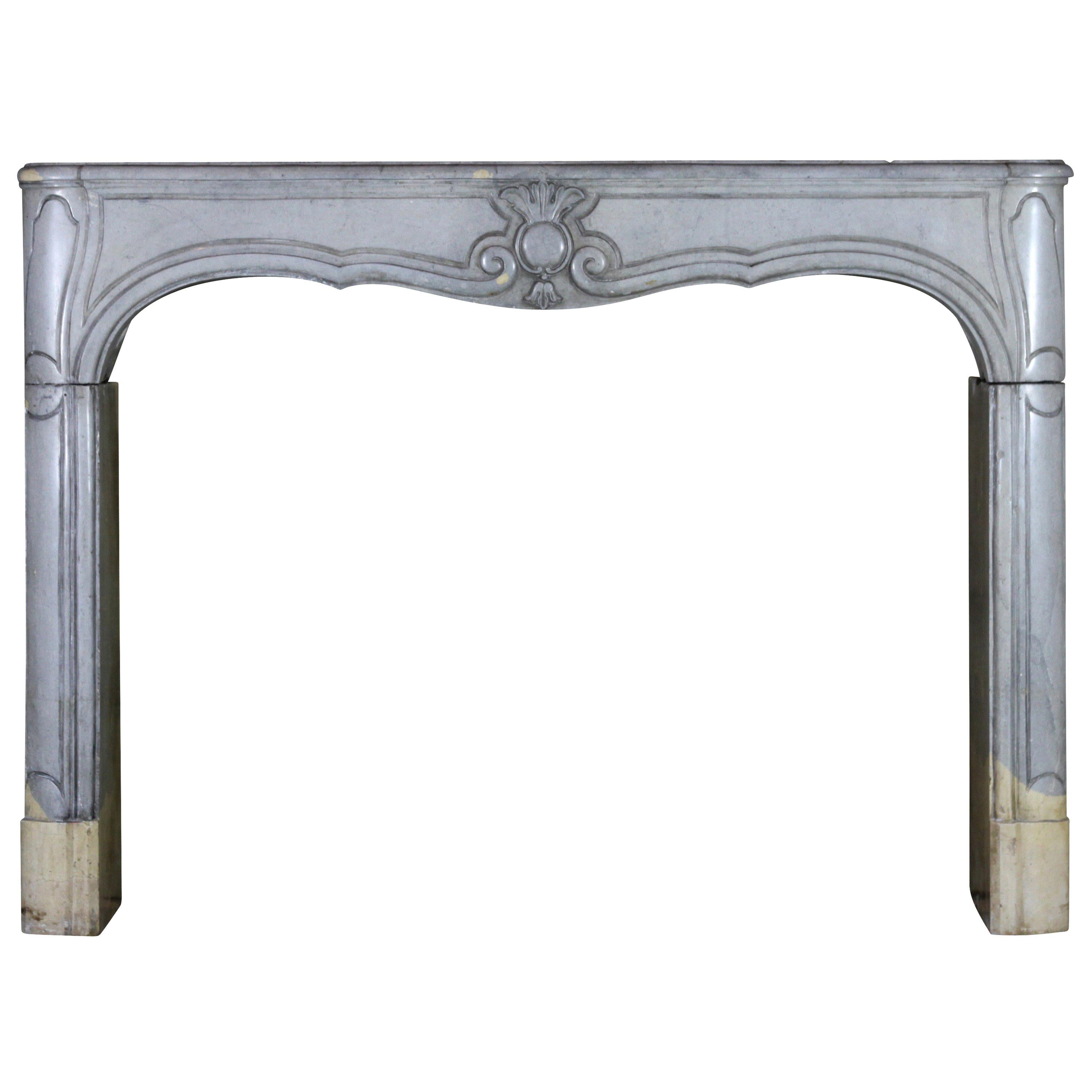 18th Century French Bleu Bicolor Stone Antique Fireplace Surround