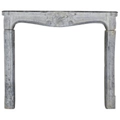 18th Century French Country Bleu Stone Antique Fireplace Surround