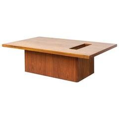 Midcentury John Keal for Brown Saltman Walnut Wood Coffee Table, 1960s