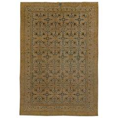 Beige Antique Persian Tabriz Rug