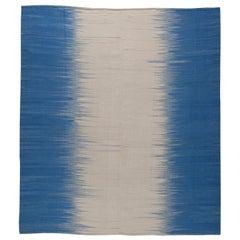 Blue Turkish Modernist Kilim