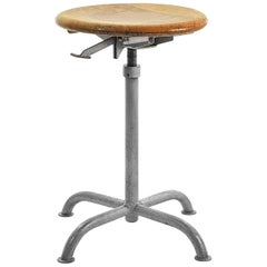 Height Adjustable, Industrial Atelier Stool by Embru